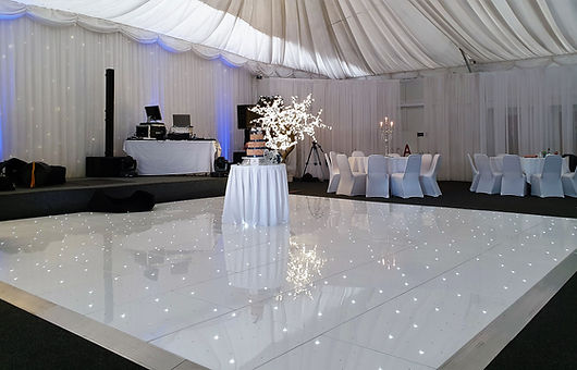 LED Dancefloor, 20x20 sparkling dance floor, Dancefloor in Alona Hotel, Glasgow. shiny twinkling white Dancefloor for hire. Dancefloor hire Glasgow, Edinburgh, Stirling, Ayr, Perth and across Scotland.