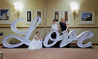 5.5ft fibre optic italic Love at a wedding in Macdonald Inchyra Grange, Grangemouth, Scotland. Letter light hire for weddings, wedding hire Glagow, love lights, light up love, love letters, love letter lights, led love, love light hire Glasgow & Edinburgh.