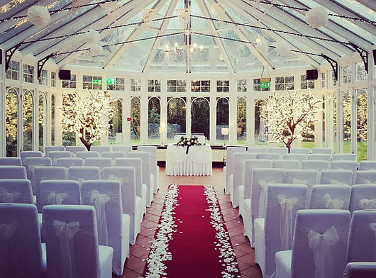 Our 2m LED Blossom Trees setup for a wedding in Kinkaid House Hotel, Glasgow. Light up blossom trees set at the end of the aisle for a wedding. Blossom Trees, LED Blossom Trees, delivery across Scotland. Blossom Trees Glasgow, Edinburgh, Stirling, Ayr. Light Up Trees for Events.