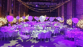 LED Light Up Trees setup for a Pharmacy Graduation Ball in SWG3, Glasgow.  2m & 3m Light Up Trees for Events and Weddings, Deliery Across Scotland.
