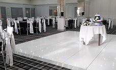 12ft x 12ft led sparkling dancefloor setup at the Braid Hills Hotel, Edinburgh.