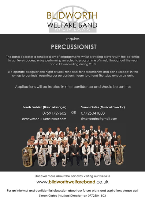 Vacancy for Percussionist