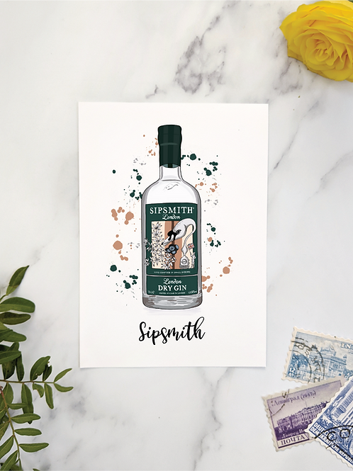 Gin bottle table names