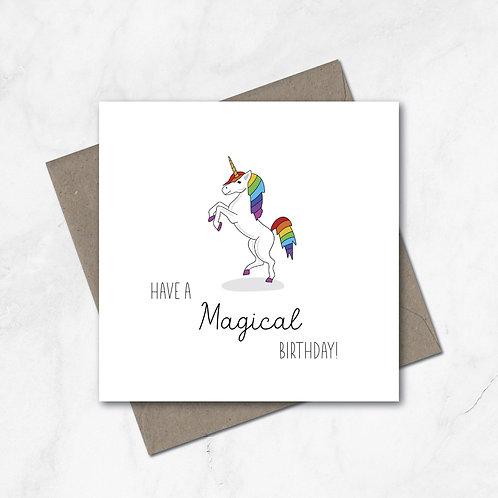 Have a Magical birthday! Birthday card