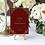 Book cover wedding table name