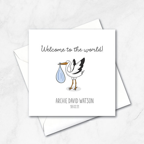 Welcome to the World | Baby Boy card