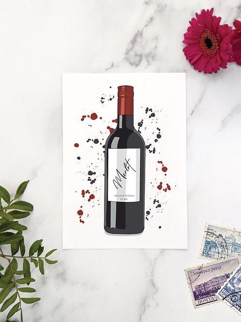Wine bottle table names