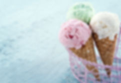 Drei Eistüten