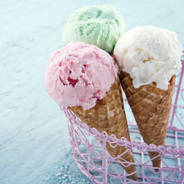 Three Ice Cream Cones