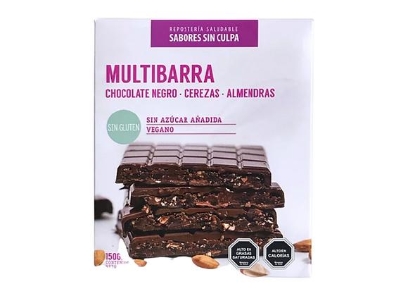 Multibarra - Chocolate negro, cereza y almendras