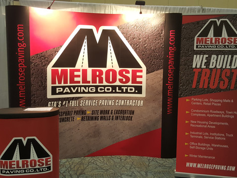 New Trade Show AD/and Booth for Melrose Paving