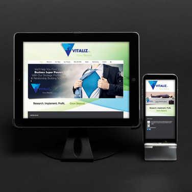 Vitaliz Business Growth Website.