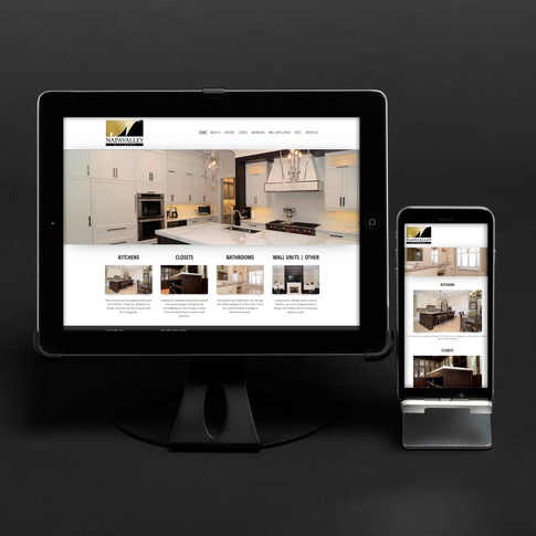 NAPA VALLEY KITCHENS FULL WEBSITE AND CORPORATE IDENTITY