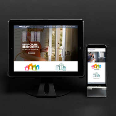 SCREENS BY ROLLAWAY WEBSITE AND ILLUSTRSTED PROFILES