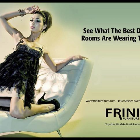FRINI FURNITURE MAGAZINE AD AND NEWSPAPER
