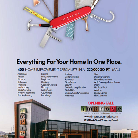 THE IMPROVE MALL SINGLE PAGE LAUNCH AD