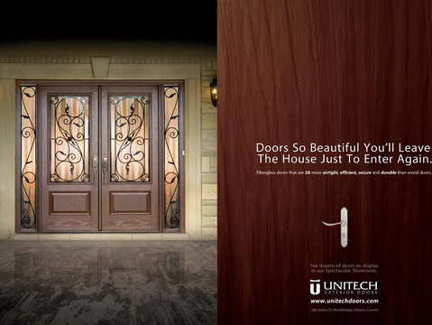 Unitech Doors New Canadian National Home Sow Ad by Adedge Inc.