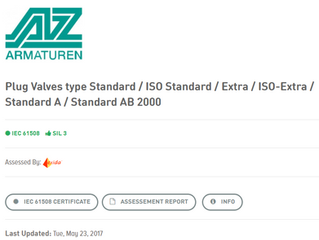 Is your plug valve SIL 3 Rated?