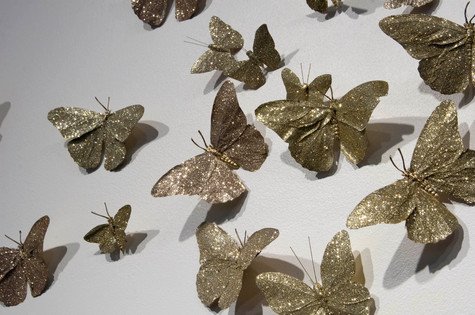 Solid Gold, detail of butterflies