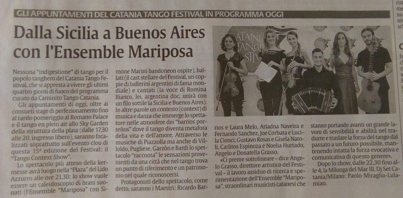 Prensa Catania Tango Festival