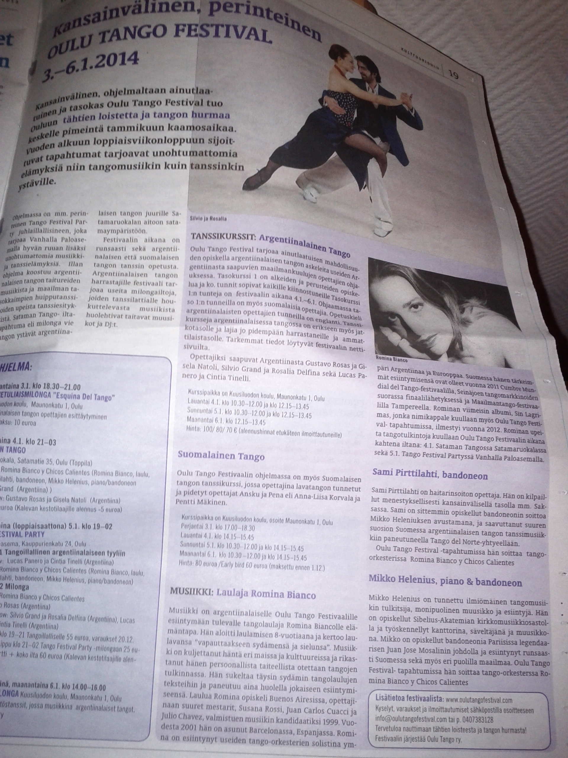 Finnish Press, Oulu Tango Festival