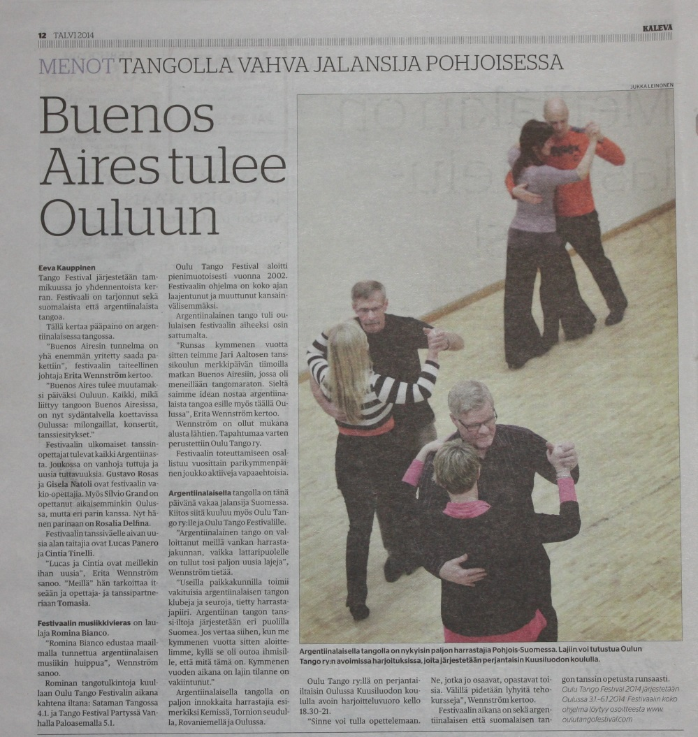 Finish press Oulu tango festival2014