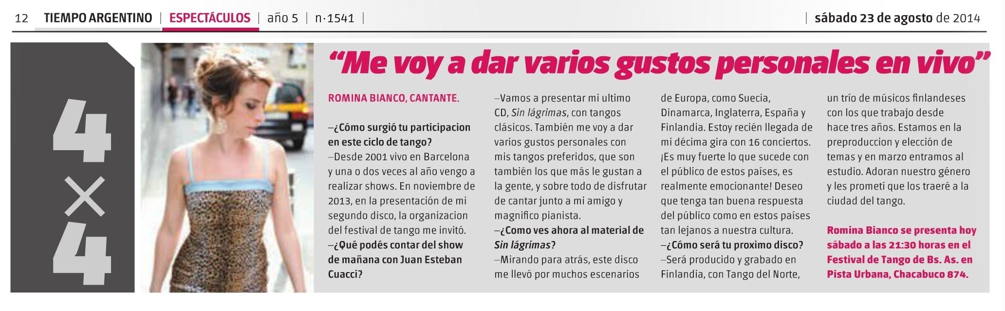 Argentinian press BA Tango festival