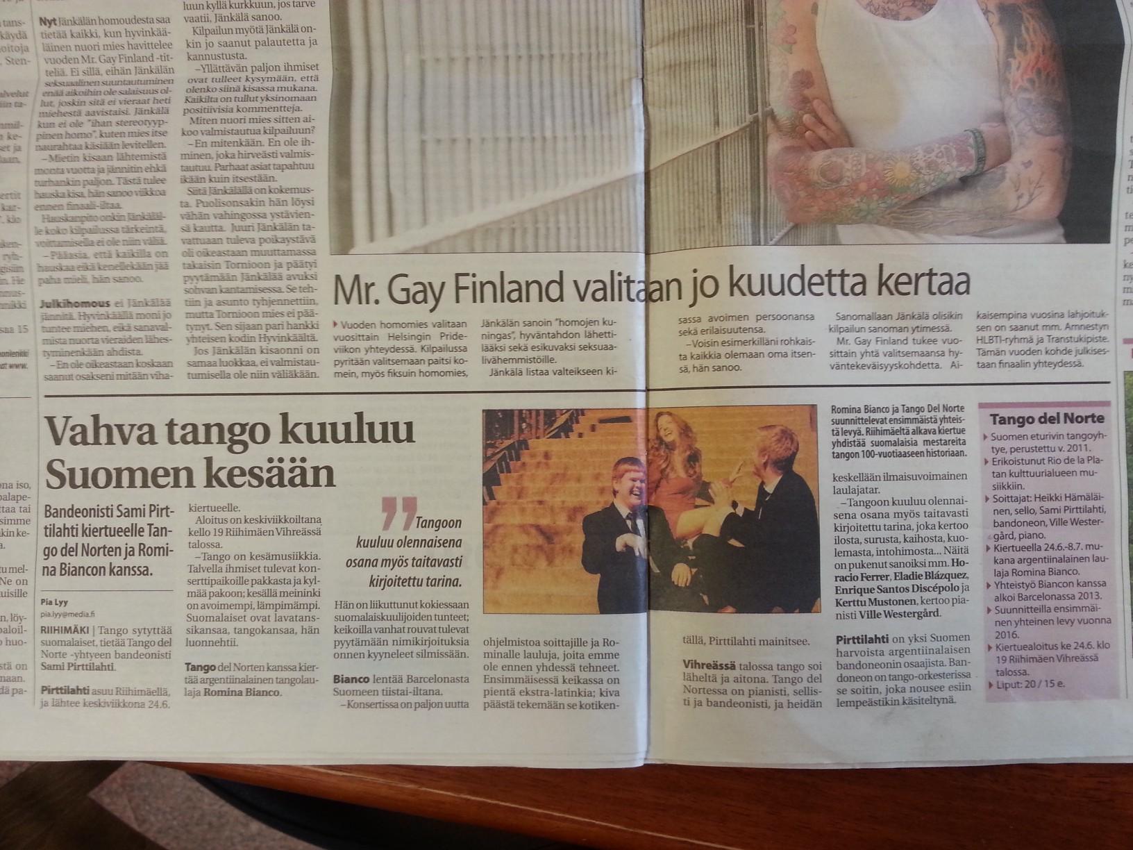 Gira de verano Finlandia 2015