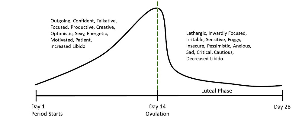 Hormonal Cycle and Moods Graph
