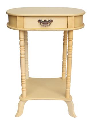 שולחן אובלי+מדף 049