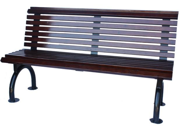 8801 ספסל מעוגל חום
