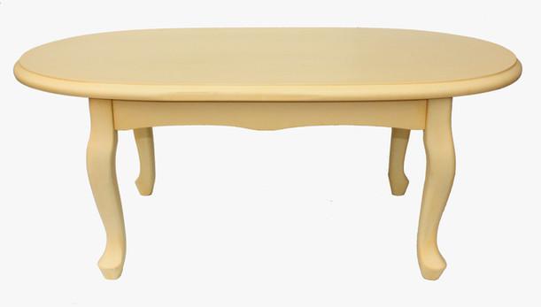 שולחן אובלי קרם עתיק 1458
