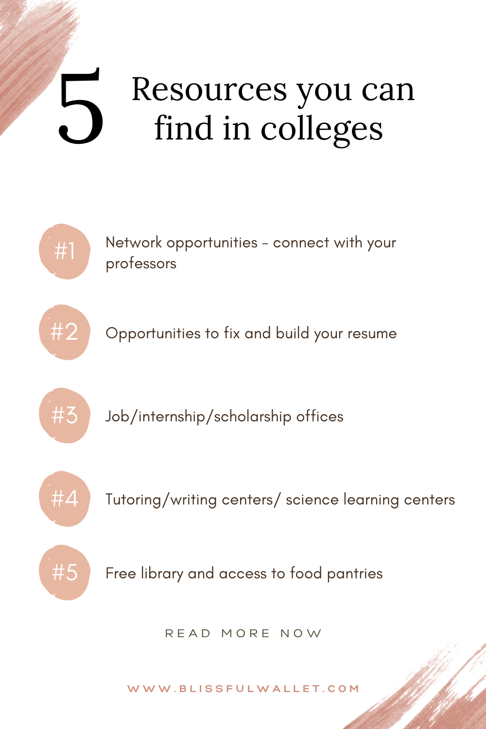 Resources you can find in college | Pin this to your favorite mental health self care board!