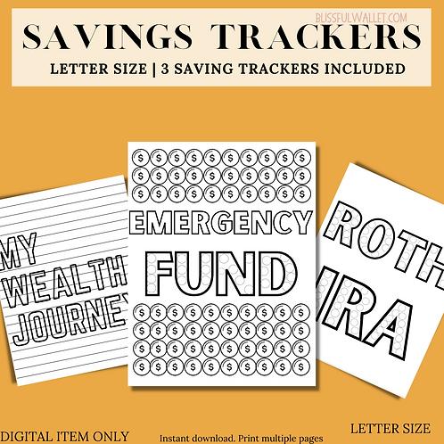 Savings Tracker | Wealth Tracker | Net worth Tracker | Roth IRA tracker