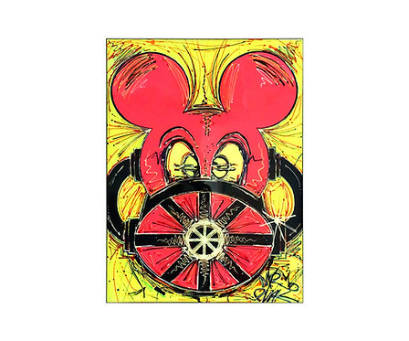 Mr Pink Gas Mask Mickey Painting Front View