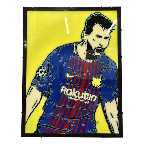 Mr Pink Lionel Messi Painting Front View