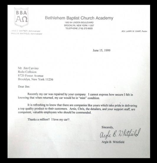 Bethlehem Baptist Church Academy Testimonial at Rojo