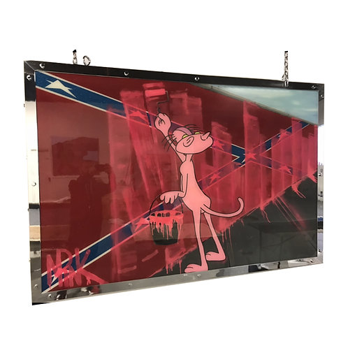 Mr Pink Paint it Pink Painting side view