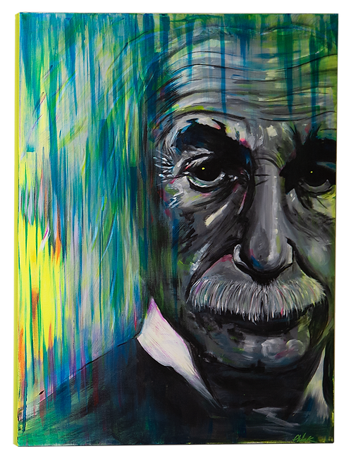 Mr Pink Albert Einstein Painting Front View