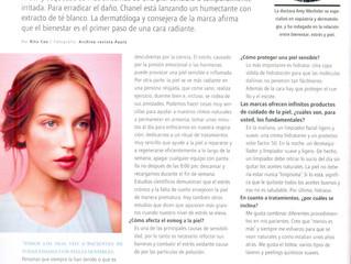 Chanel y su nueva fórmula para calmar la piel