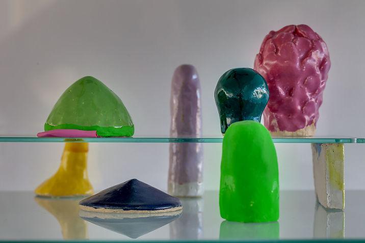 Julia Himmelmann, Keramik, Berge Hauben und Huegel, 2017