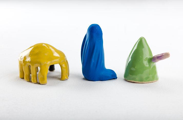 Julia Himmelmann, Keramik, 2017, bunt, Wo ist mein Kopf?