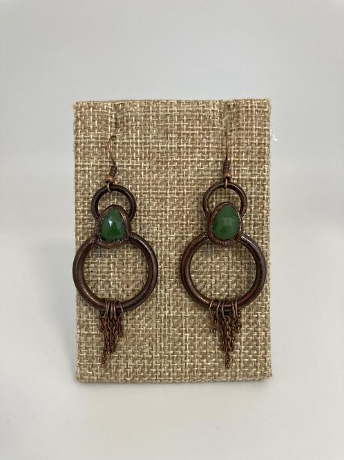 Rose Cut Jade Earrings