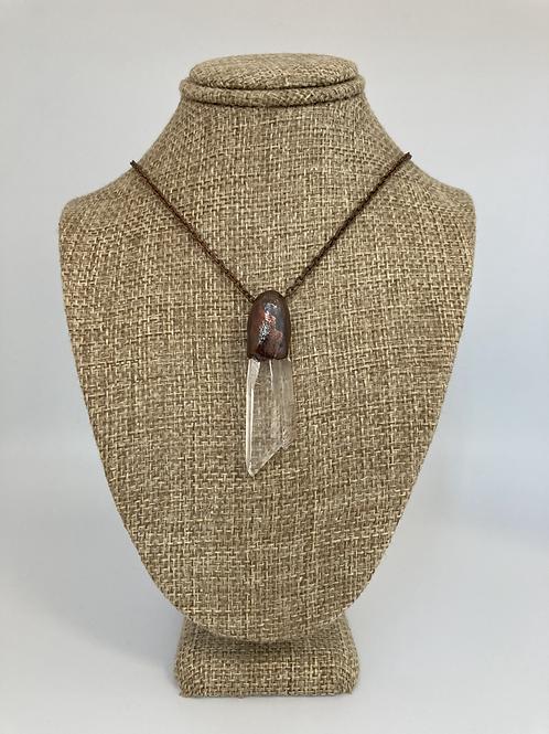 Clear Quartz Point Pendant Necklace