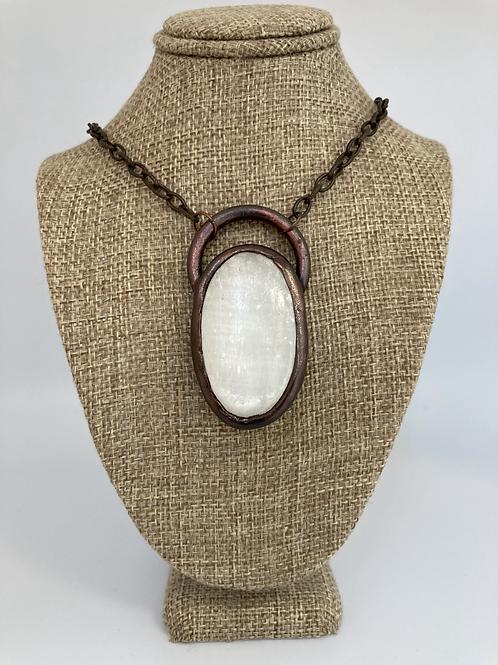 Selenite Pendant Necklace
