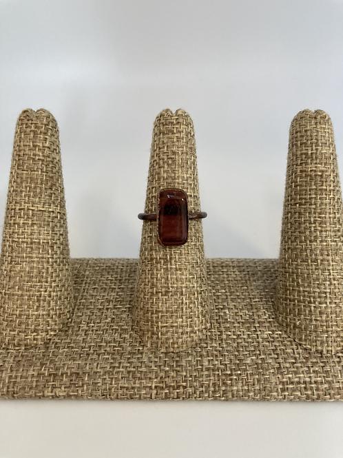 Red Tigers Eye Ring