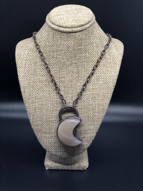 Gray Moonstone Pendant Necklace