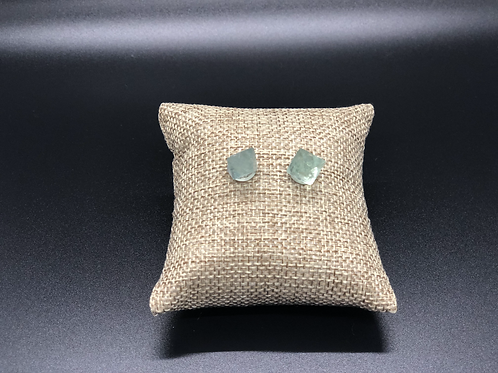 Fluorite Stud Earrings