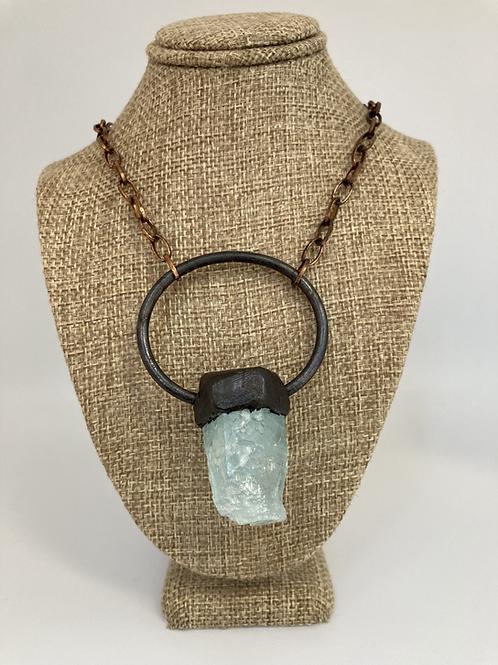 Aquamarine Statement Pendant Necklace