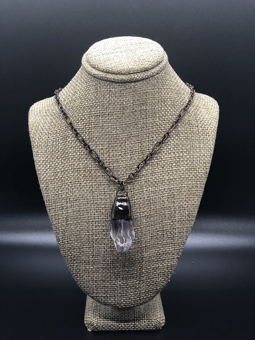 Amethyst Point Pendant Necklace